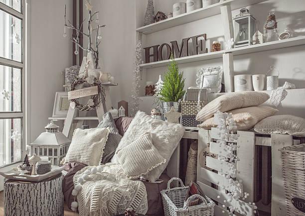 wohndekoration - shabby deko stock-fotos und bilder