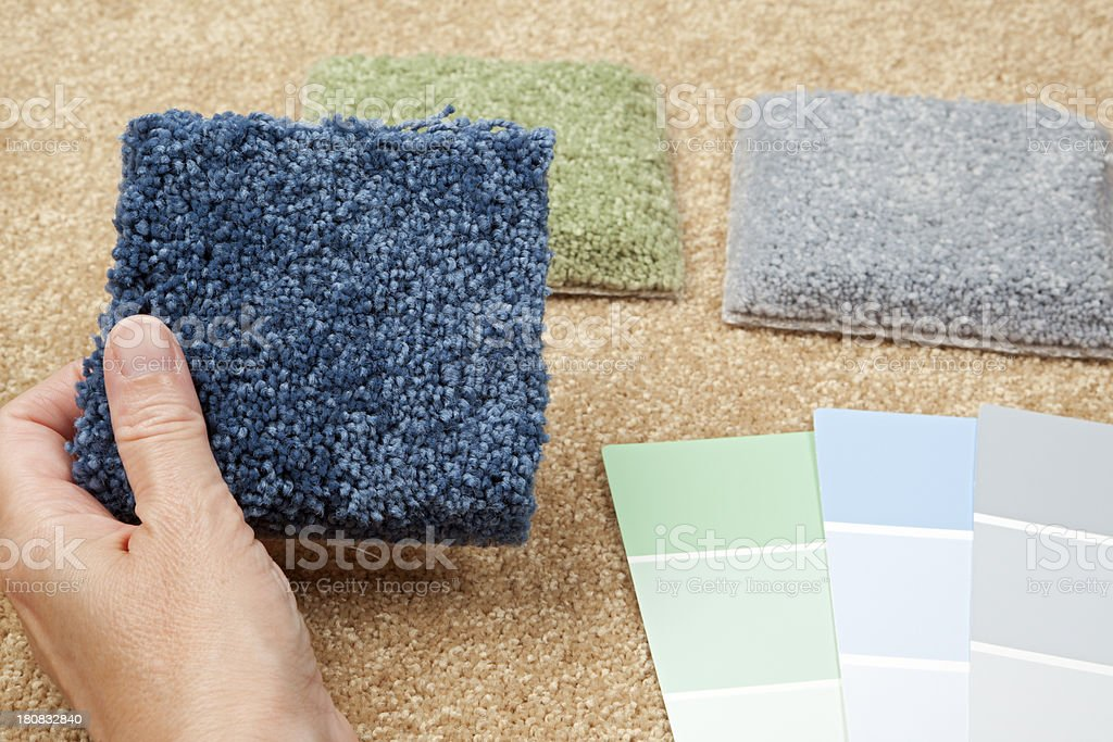 Home Decorating: Carpet Samples And Color Swatches Royalty Free Stock Photo