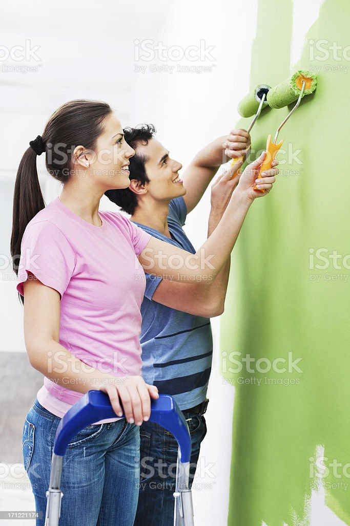 Home decorating. royalty-free stock photo