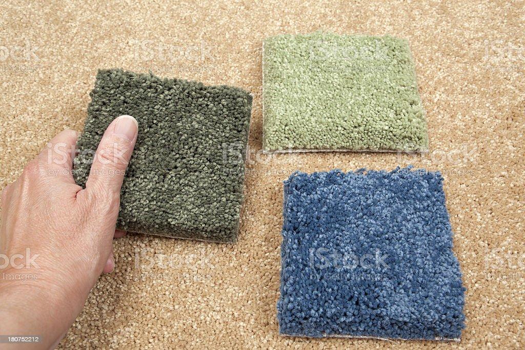 Home Decorating:  Plush Carpet Samples royalty-free stock photo