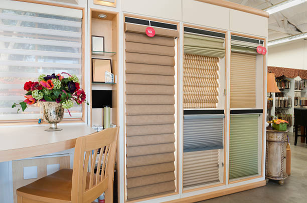 Home Decorating Showroom - Window Blinds stock photo