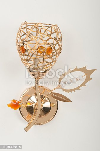 istock Home decoration and lighting wall lamp. 1218398815