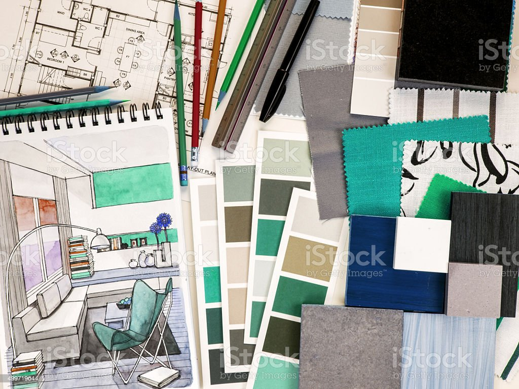 Home decoration and renovation concept stock photo