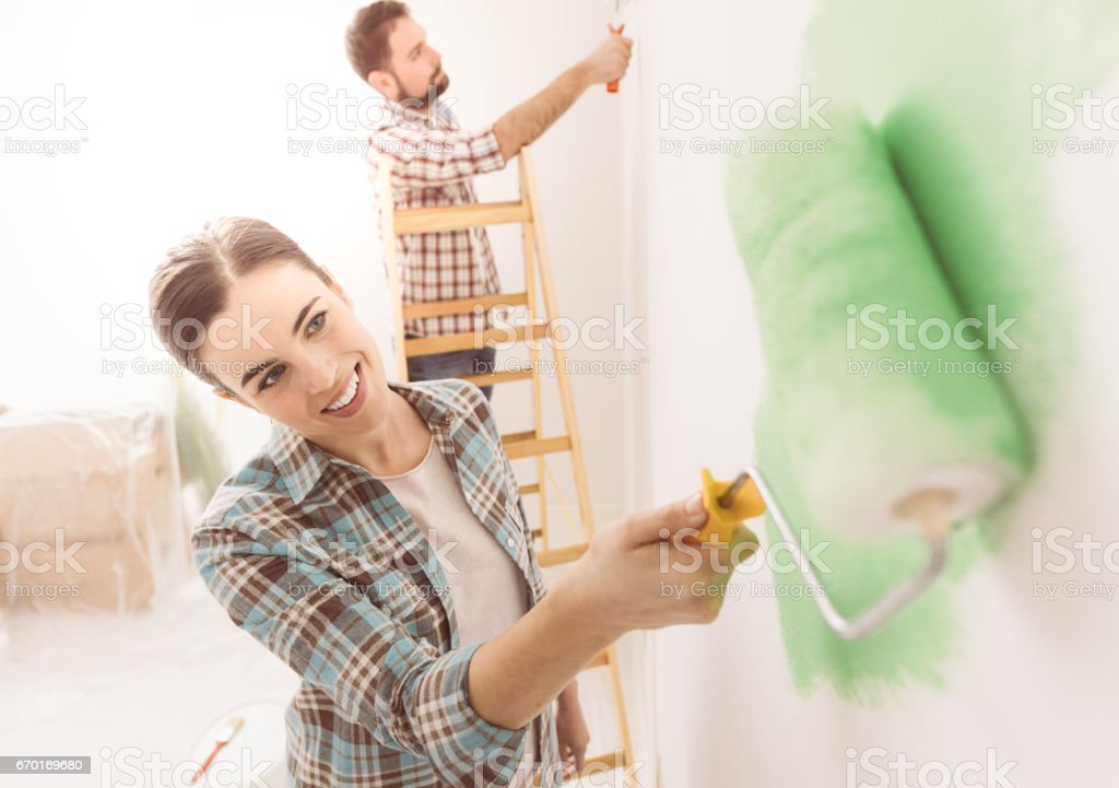 Home decoration and renovation stock photo