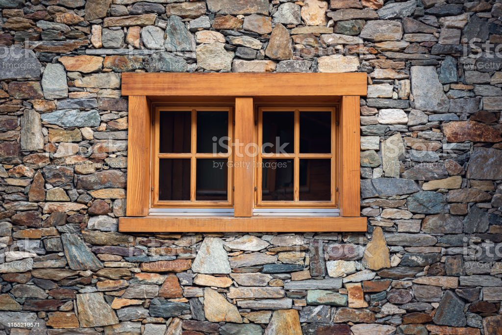Home Decoration And Window Architecture Exterior Design Against Stone Wall Background Wallpaper Texture Pattern Stock Photo Download Image Now Istock