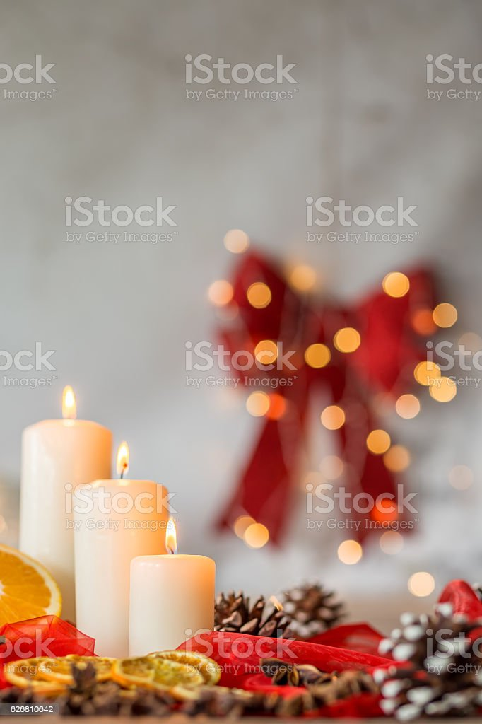 Home decoration for Christmas stock photo