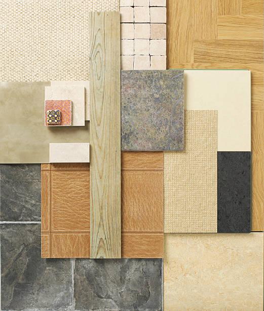 wohndekoration-etage arbeitsproben ein - teppichmaterial stock-fotos und bilder
