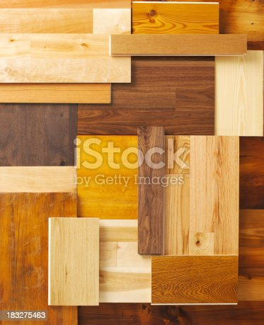 Overhead composition of various wood floor samples.Other Variation