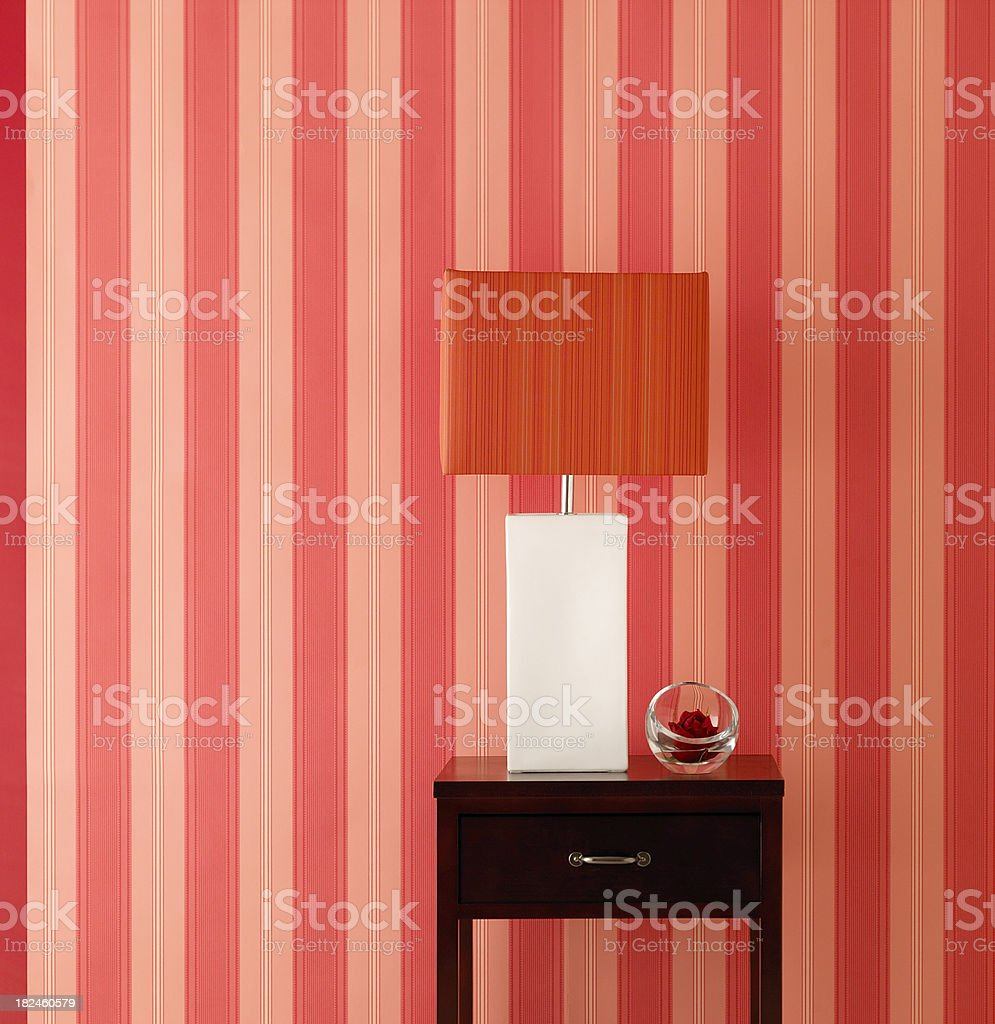 Home Decor-Lamp and Wall royalty-free stock photo