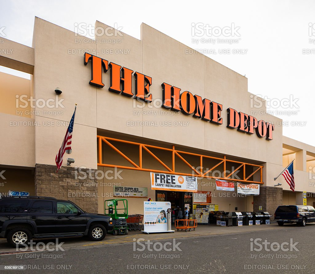 Shop Home Depot: Home Depot Store Entrance In Campbell California Stock