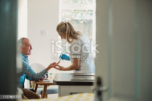 istock Home Diabetes Treatment 1127801727