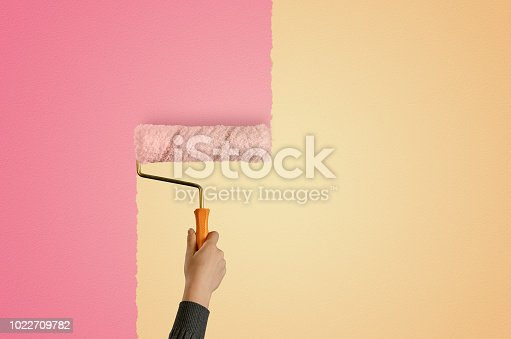 DIY, Home Improvement, Renovation, Paint Roller, Wall - Building Feature