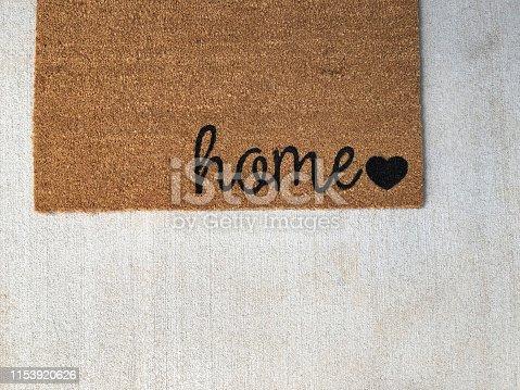 home door mat from above