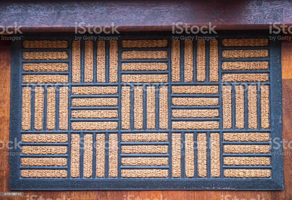 Home Doormat Carpet stock photo