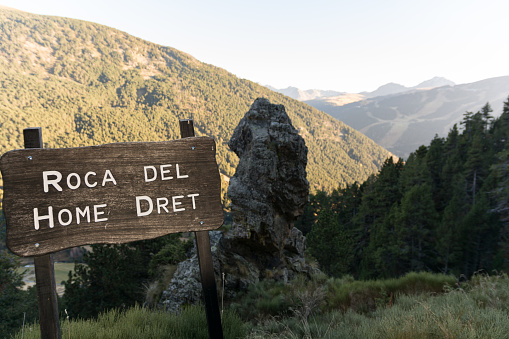 Home Dret, Pueblo del El Tarter en Canillo, Andorra. Otoño