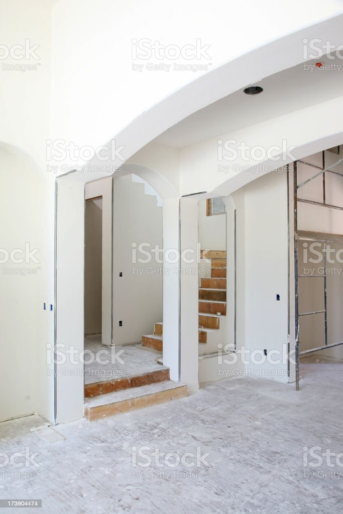 Home Drywall Construction royalty-free stock photo