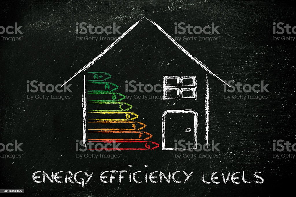 home energy efficiency ratings stock photo