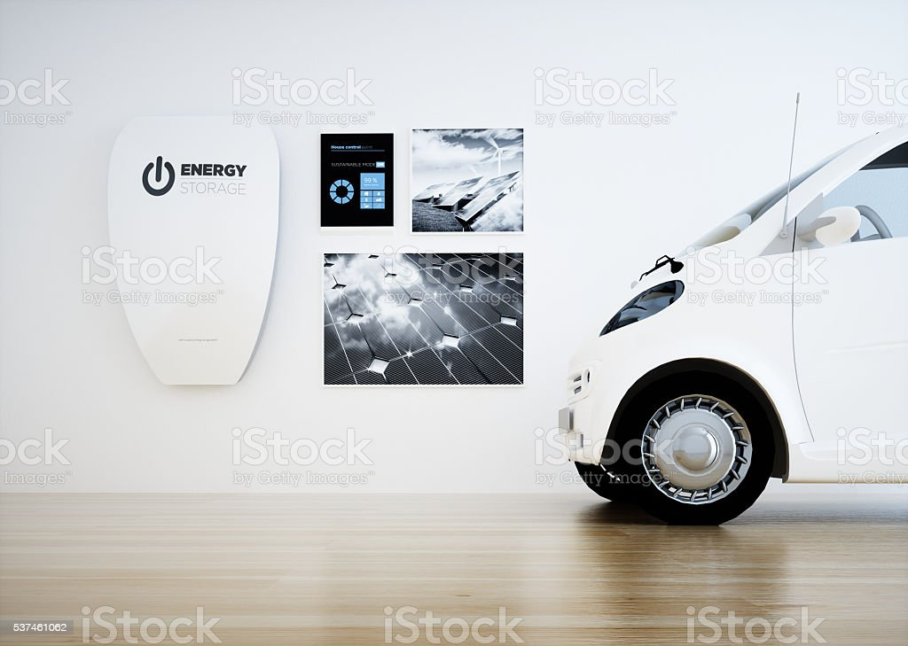 Home energy storage battery unit stock photo
