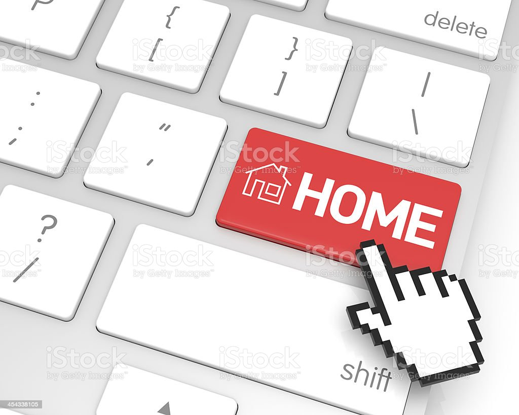 Home Enter Key royalty-free stock photo