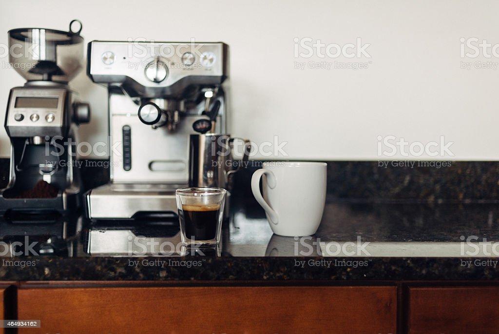 Home Espresso Making stock photo