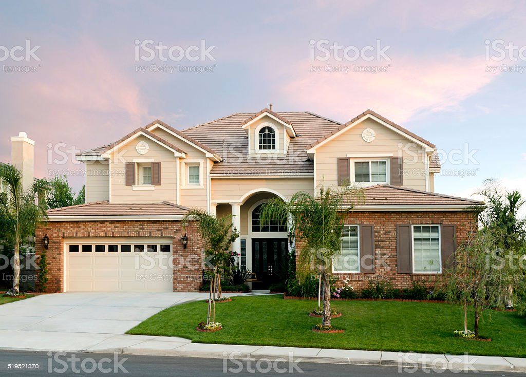 Home Exterior House Design stock photo