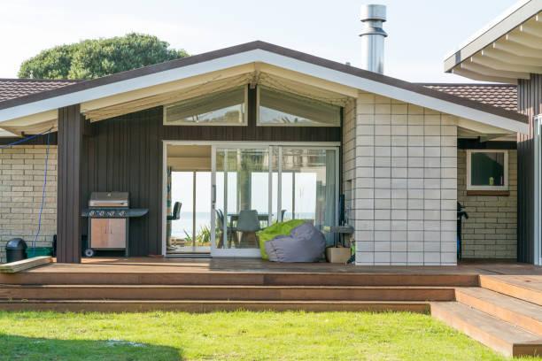 Home exterior New Zealand stock photo