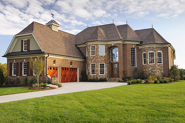 home exterior - stately home stock photos and pictures