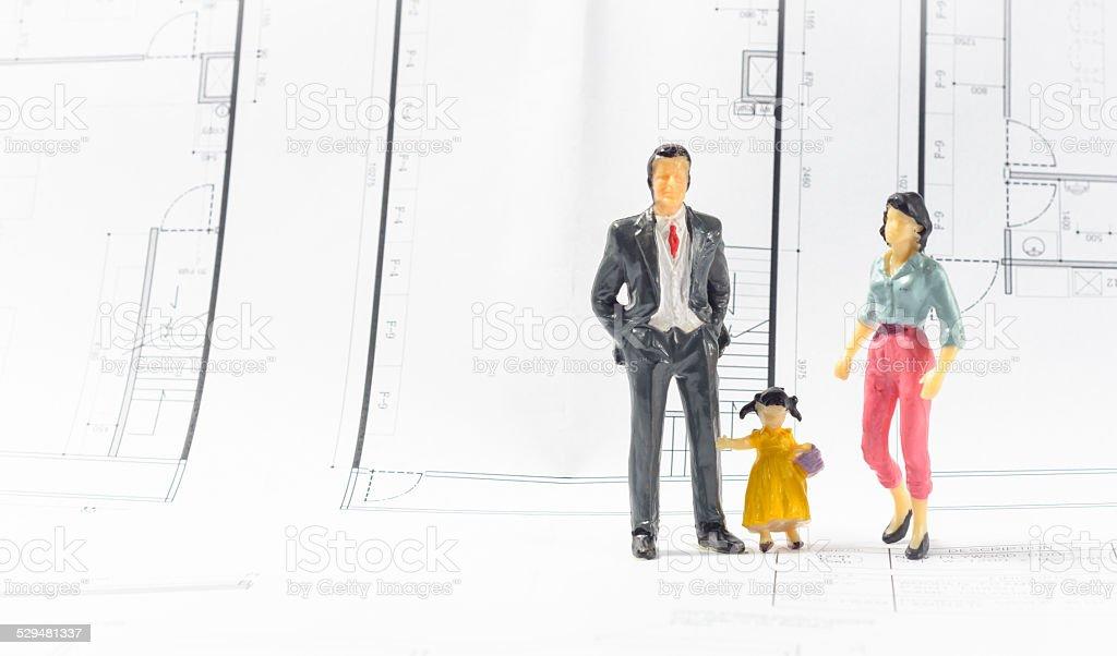 home family stock photo
