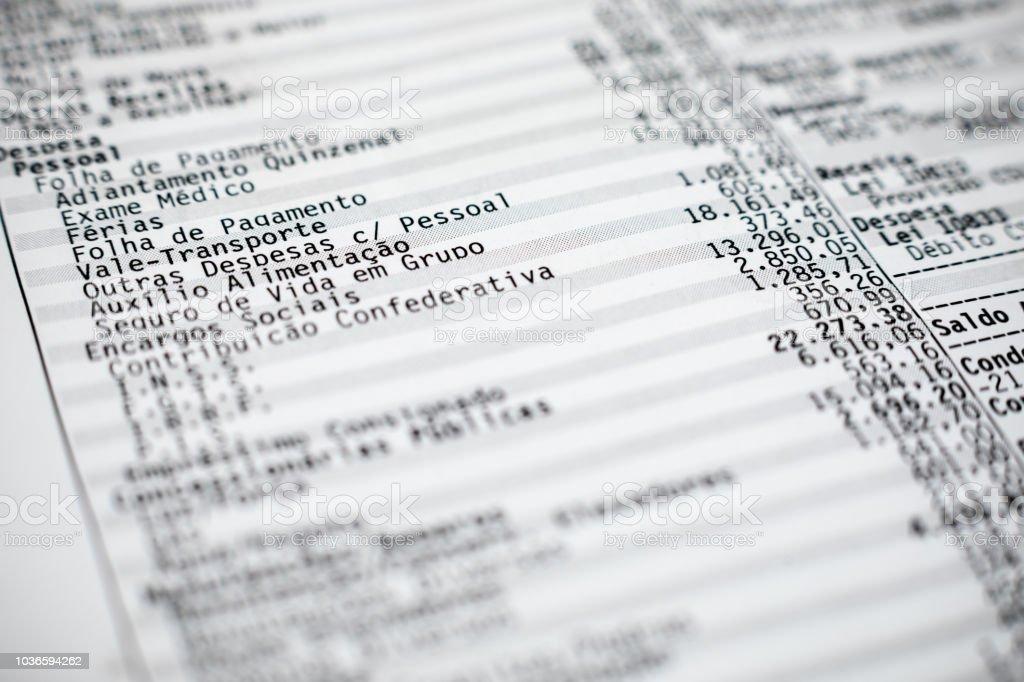 Home finances expenses