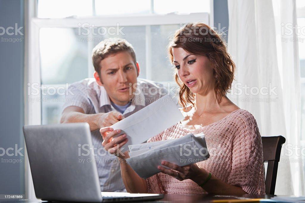 Home finances stock photo