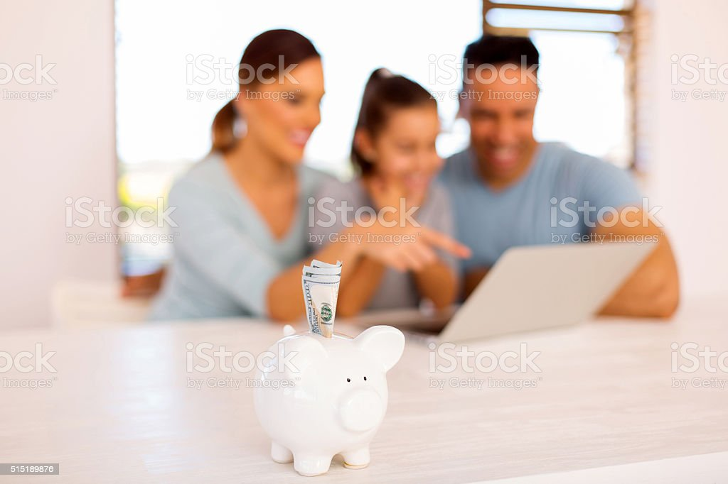 home financial planning stock photo
