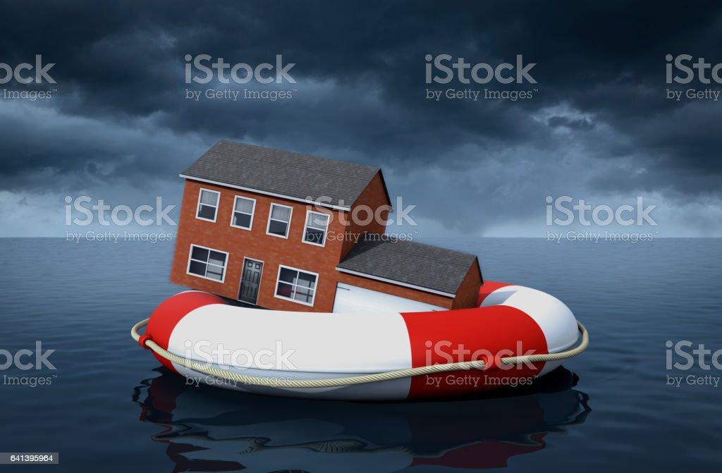 Home Flood Insurance stock photo