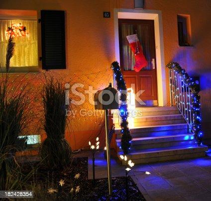865140324 istock photo Home for christmas lightning 182428354