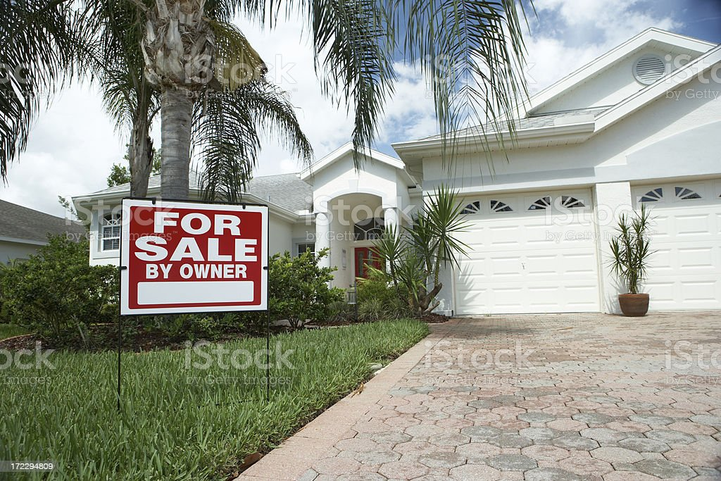 Home for sale royalty-free stock photo