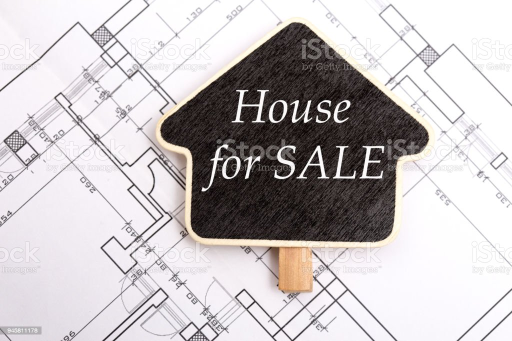 Home for sale sign board on blueprint stock photo more pictures of home for sale sign board on blueprint royalty free stock photo malvernweather Images