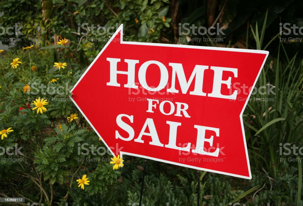 Home For Sale Sign royalty-free stock photo