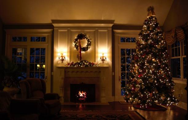 home for the holidays - low lighting stock photos and pictures