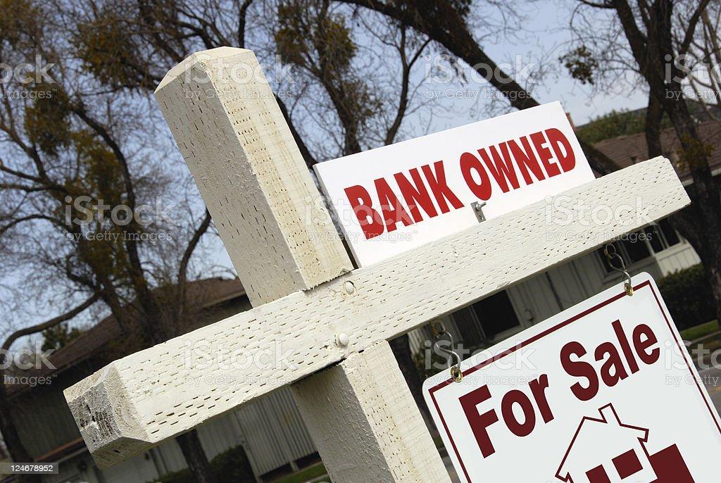 Embargo hipotecario señal de inicio - foto de stock