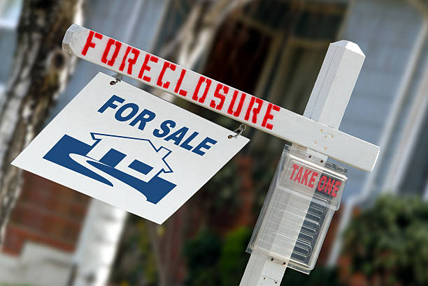 Home Foreclosure Sign stock photo