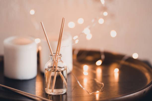 Home fragrance in sticks stock photo