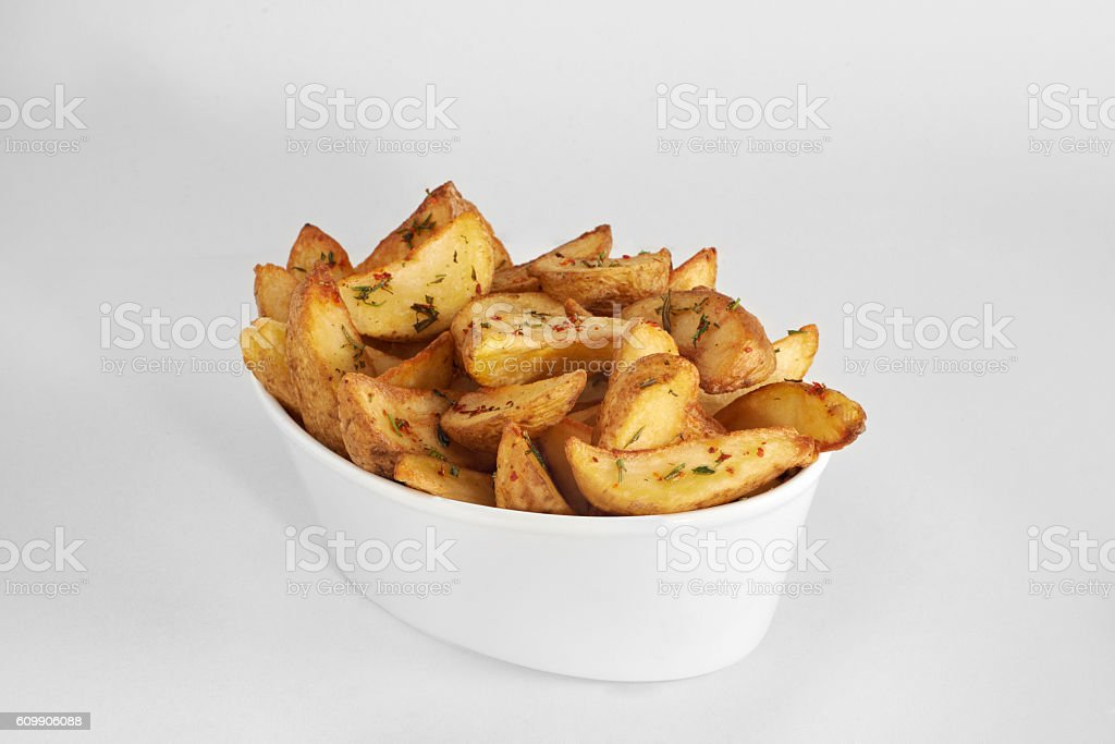Home fries stock photo