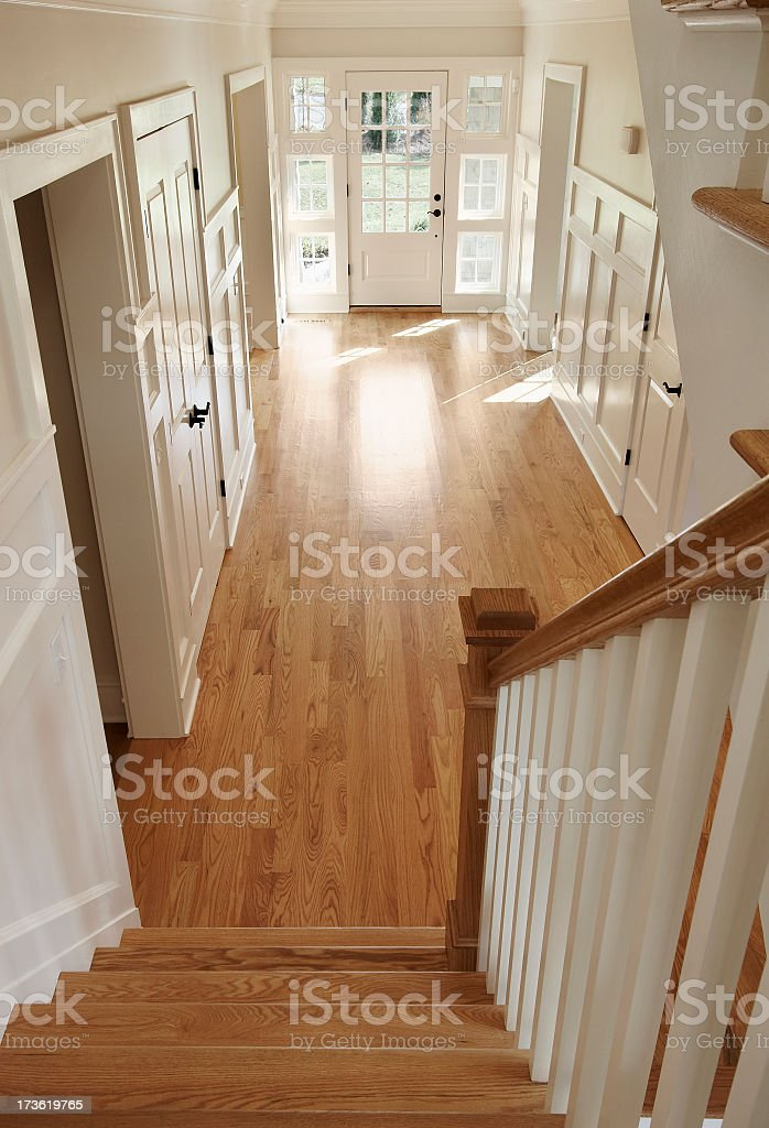 Home, Front Entrance and Hallway. royalty-free stock photo