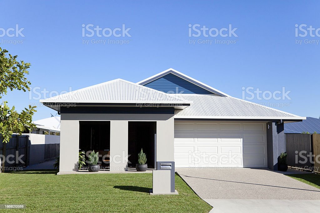 Home front with blue sky copy space royalty-free stock photo