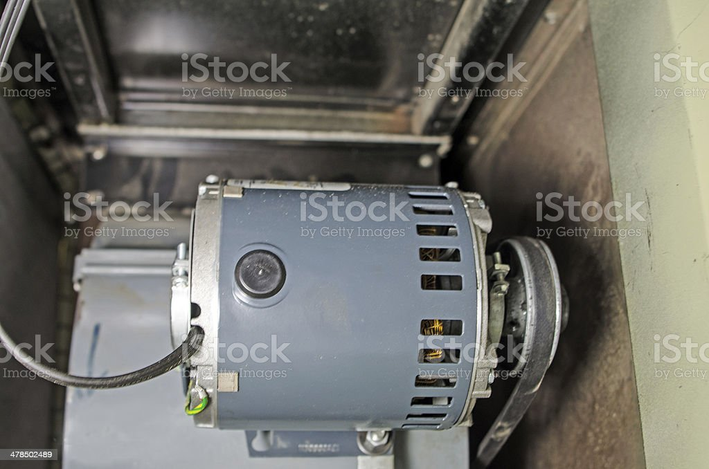 Home Furnace Motor and Blower stock photo