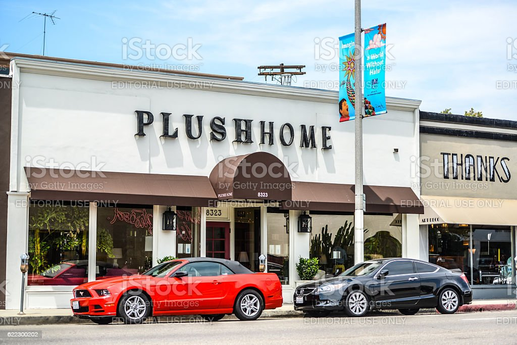 Home futniture store in West Hollywood, CA, USA stock photo