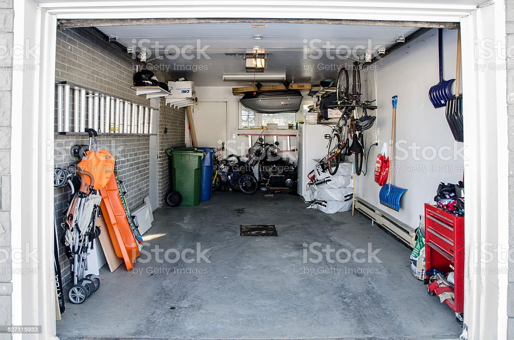 Home garage stock photo