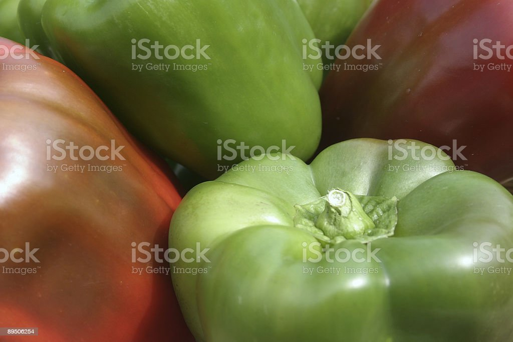 Home Grown Bell Peppers royalty-free stock photo