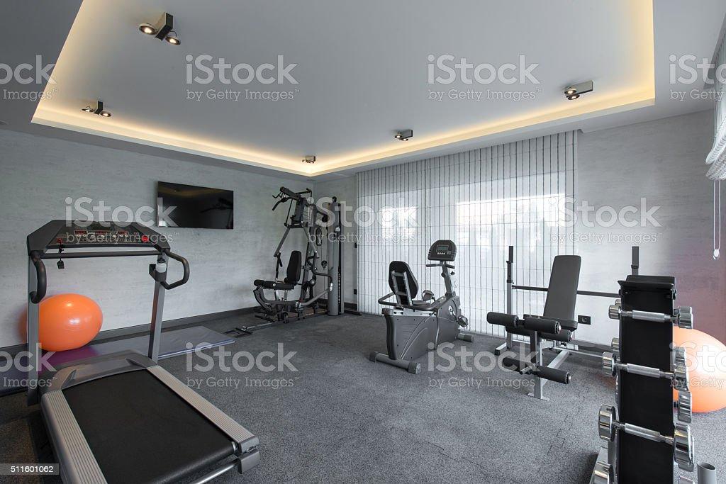 Fantastisch Startseite Fitnessstudio In Luxus Villa Haus U2013 Foto