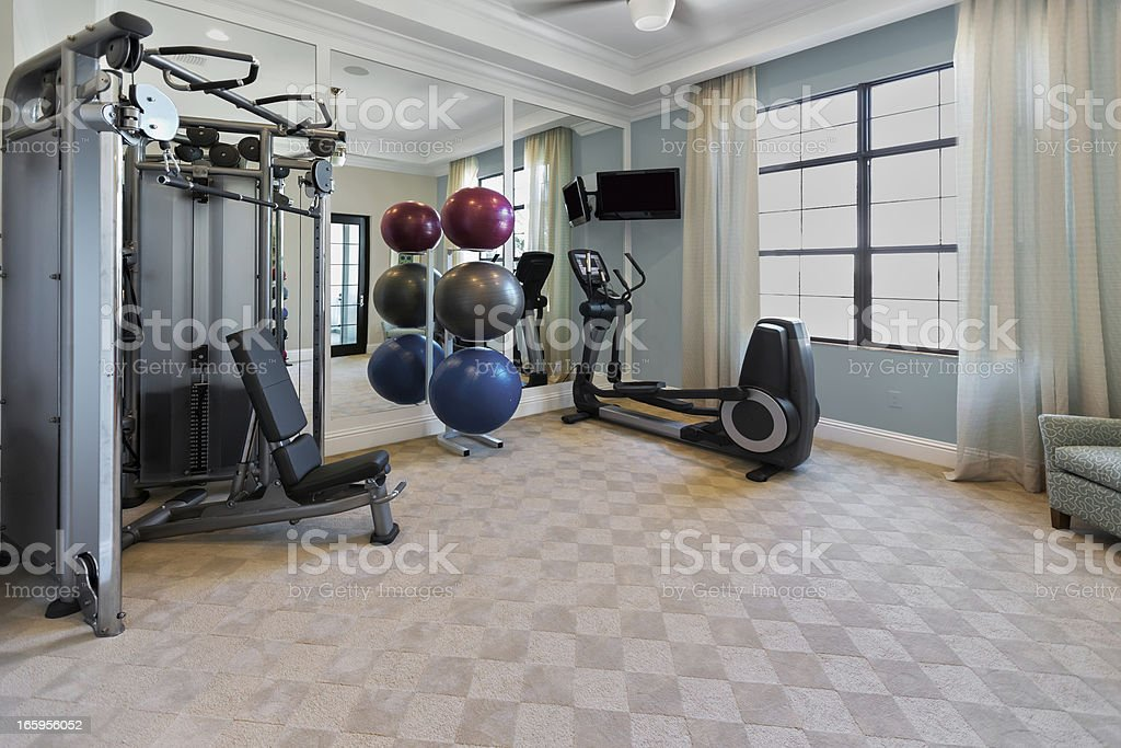 Home Gym Interior royalty-free stock photo