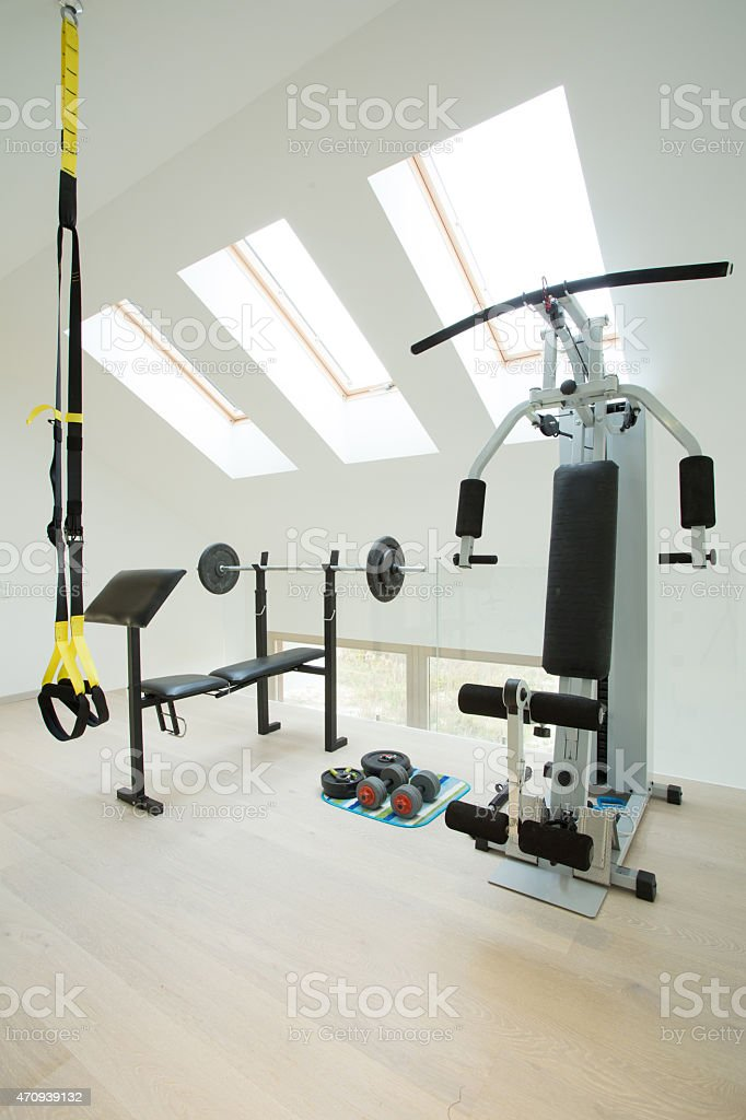 Home gym stock photo